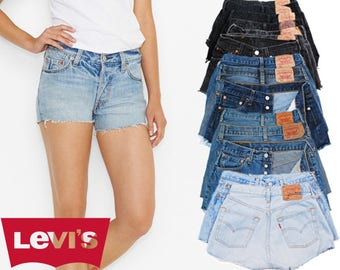 LEVIS Shorts *All Sizes* Vintage High Waisted 6 8 10 12 14 16 Denim Hotpants Grade A