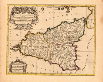 1708 Map of Sicily