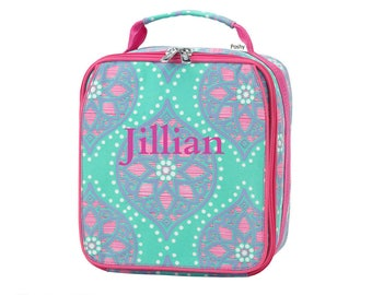Personalized Kids Lunch Box / Monogrammed lunch box / Lunch Bag / Girls lunch Box / Marlee print