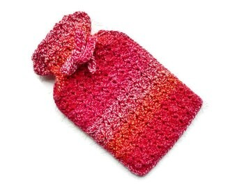 Crochet hot water bottle cover hot water bottle case bottle cozy hottie cosy crochet hottie cover