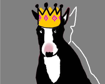 Bull Terrier Fun Party Hat Cards Set of 6