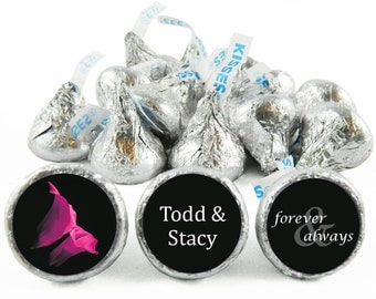 Set of 108 - Forever and Always Kiss Stickers for Hershey's Kisses. Wedding Labels for Kiss - Wedding Party Favors - #IDWED708