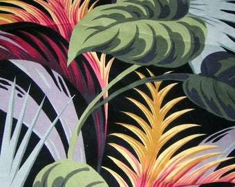5 1/2 yds Patio Palm Tropical Leaves Print  100% cotton Michael Miller Quilting Fabric