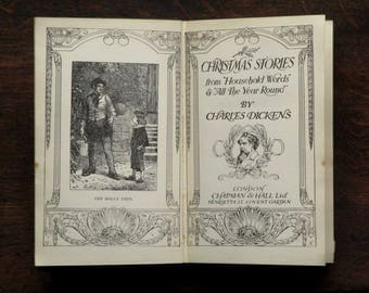 Antique Christmas Stories by Charles Dickens Edwardian book