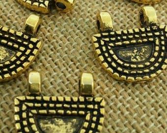 Two hole golden pendant