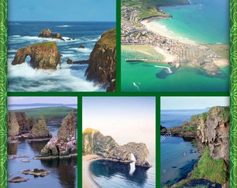 "mystery yarn box . Natural wonders of world "" coastline of Great Britain """