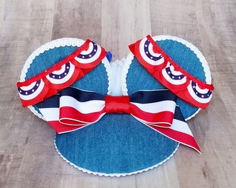 Main Street Bunting 4th of July FascinEar Mouse Ear Fascinator
