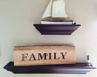Wooden Signs Family - Wood Signs Quote  - Decorating in Wood - Sign Saying Words on Wood - Farm House Kitchen - Country Decorations