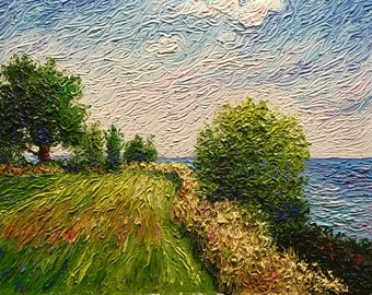 "Original Impressionist style Impasto painting ""Tip of the Thumb"" 11x14"