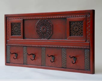 Red Ornamental Coat Rack