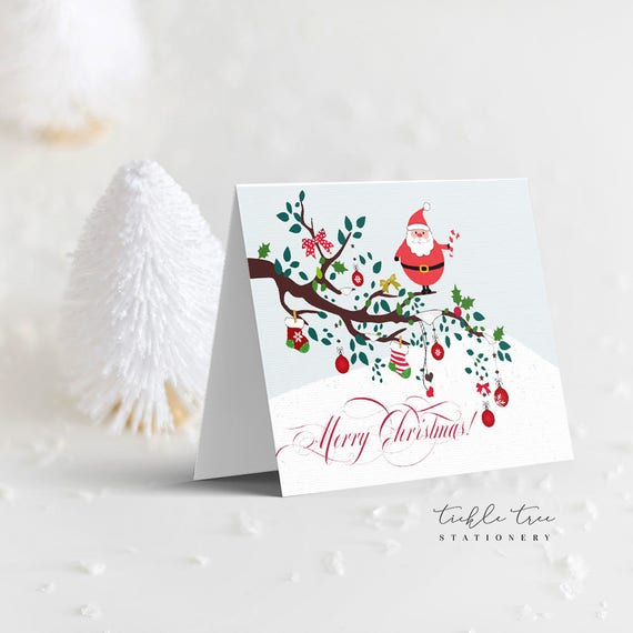 Christmas Greeting Cards - A Santa Hello!