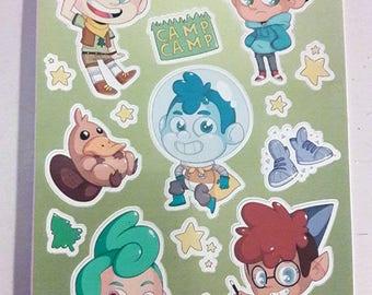 Camp Camp Sticker Sheet
