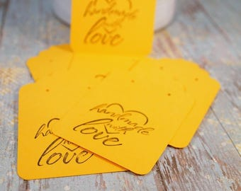 """CIJ Sunny Yellow Earring Cards, Card Stock Paper Earring Cards, 20 Earring Cards, Supplies, Seller Supplies,  3 1/4 x 2 1/8"""". CKDesigns.US"""
