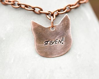 My Favorite Murder // Stamped copper bracelet // Meowderino gift // Steven! // READY TO SHIP