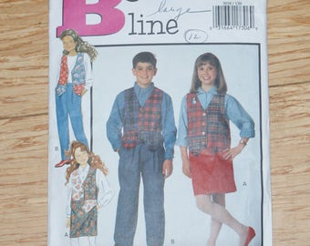 Retired Butterick Cut Fast & Easy Childs Vest Top and Pants and Skirt Pattern 3036 Size 12