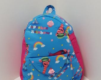 SALE NEW JR Toddler Backpack - Trolls Cupcakes & Rainbows
