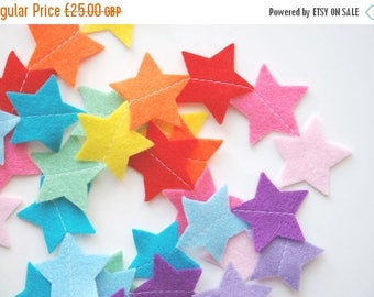 SALE Felt Garland - Rainbow Stars