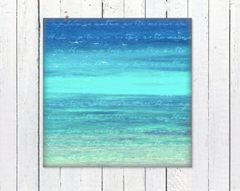 Printable Blue Ocean Wall Art | Instant Download | Turquoise Ocean Decor Print | Digital Download Photography | Printable Ocean Photography