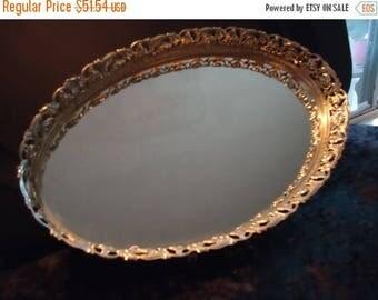 On Sale 1960's Vintage Gold Ornate Framed Vanity Mirror Mid Century Modern Hollywood Regency Home Decor