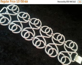 Now On Sale Vintage Chunky Wide Bracelet 1960's Statement Collectible Retro Jewelry