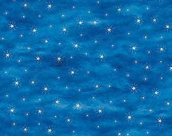 Night sky landscape etsy for Night sky print fabric