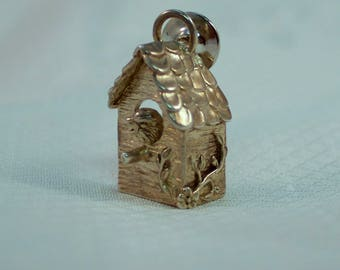 1980's H & H deMatteo Sterling Bird House Pin