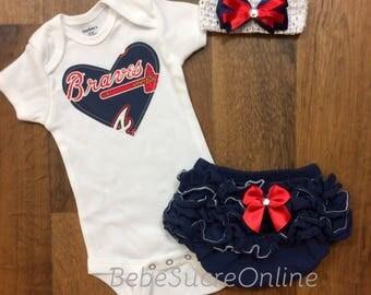 Atlanta Braves Outfit and Headband