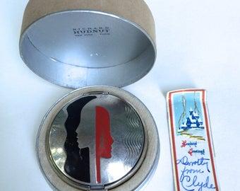 Art Deco Compact Deauville Richard Hudnut Enamel in Original Box