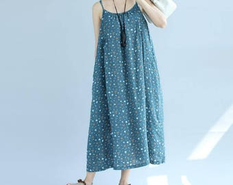 Women Summer Long harness dress loose Beach dress