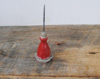 Vintage Red Handled Ice Pick