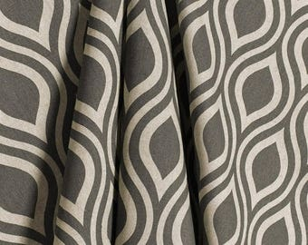 SALE Gray Natural Laken Geometric Curtains Nicole  Rod Rocket  63 72 84 90 96 108 120 Long x 25 or 50 Wide