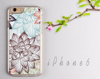 Flower iPhone 6 case, Clear iPhone 6s case - HTPC616