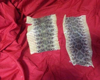 2 real animal tanned hide pelts snake skins parts