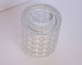 Mini Clear Crystal Glass Ice Bucket Stash Box Retro Vintage