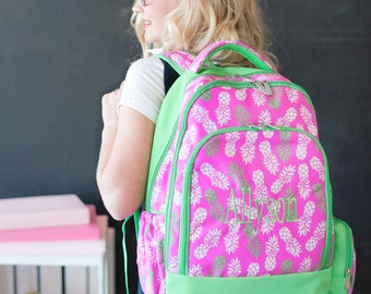 Girls backpack, monogram backpack, Girls bookbag, Girls School Bookbag, back to school,personalized backpack