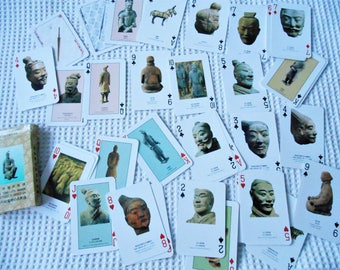 Terra Cotta Warriors Playing Cards full deck 52 decorated Cards  Playing Cards Supply Craft Assemblage