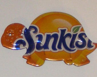 Turtle - Orange Sunkist Soda Can Magnet
