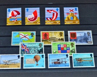 Jersey 13 mint stamps