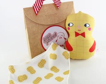 Peanut Baby Rattle And Bib Gift Set