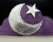 Custom Order For Miss D 70s Style Beautiful Moon And Star Suede Choker Only