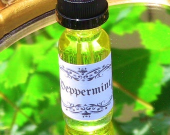 Peppermint Oil Spiritual Ritual Oil Spirits Relaxation Stress Relief Aromatherapy CURIO Gypsy Witch Magick Pagan Wicca