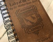 For Nicolette: Journal, Vintage Book, The Lady of the Lake, Spiral Bound Journal, English Lit