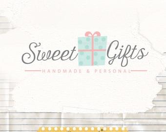 Premade Logo Design, Boutique Logo, Sweet Logo, Feminine Logo, Gift shop Logo