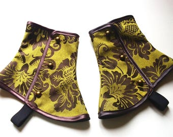 Upgrade brass buttons for your beautiful spats