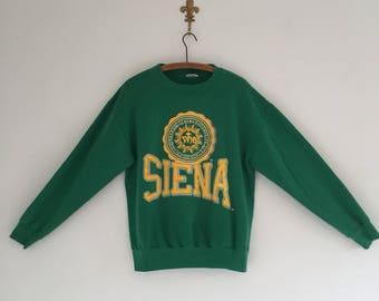 Vintage 80's Siena College Sweatshirt M L