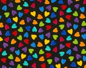 Mini Hearts from Timeless Treasures Fabric's Crayon Party Collection