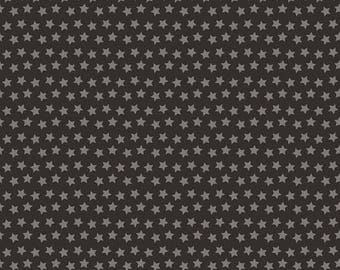 """SUMMER SALE END Of Bolt - 16"""" X 44"""" - Sirius Stars on Black from Blend Fabric's Luckie Collection by Maude Asbury"""