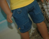 American, Made, boy, girl, doll, Medium blue, jean, shorts, fit, 18 inch, doll, pants, doll clothes