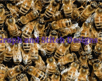 Bee Hive Cross Stitch Chart Only