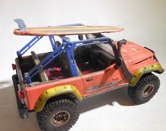 ScaleModelCar,124Scale,SurfBoard,RatRod,WipeOut,JeepWrangler,BarnFind,RustedWreck